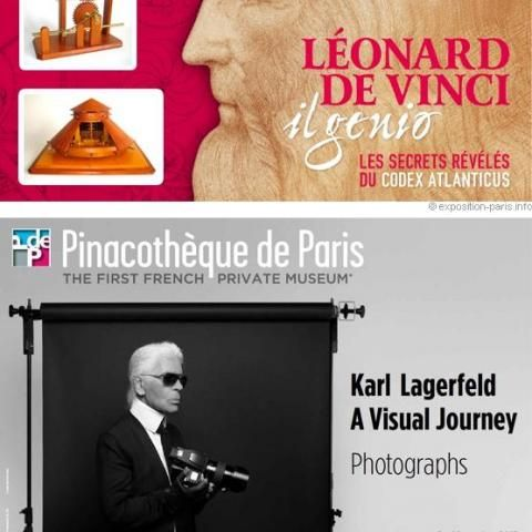 Leonardo and Karl Lagerfeld, face to face at the Pinacothèque
